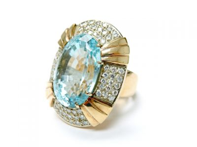 2015 ML Facets/3 Qtr/Modern Aquamarine and Diamond RIng CFA150661 79555