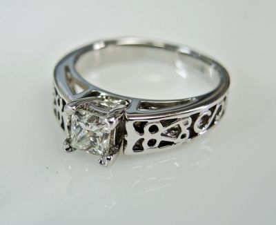 Modern Diamond Solitaire Engagement Ring