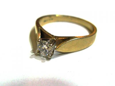 2015 ML Facets/3 Qtr/Modern Diamond Solitaire Ring CFA1508170 79963
