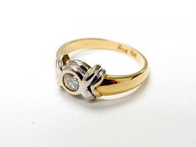 2015 ML Facets/3 Qtr/Modern Diamond Solitaire XO Ring CFA150690 79651