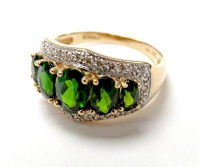 2015 ML Facets/3 Qtr/Modern Diopside and Diamond Ring CFA150719 79678