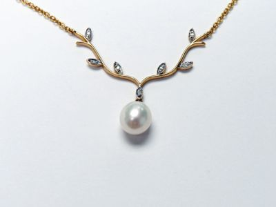 2015 ML Facets/3 Qtr/Modern Pearl and Diamond Necklace CFA1505230 79504