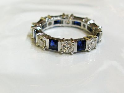 2015 ML Facets/3 Qtr/Modern Sapphire and Diamond Eternity Band CFA150304 79183