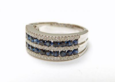 2015 ML Facets/3 Qtr/Modern Sapphire and Diamond Ring CFA150655 79549