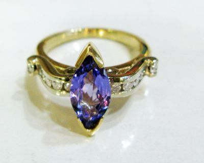 2015 ML Facets/3 Qtr/Modern Tanzanite and Diamond Ring CFA1509116 80137