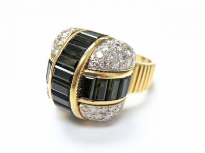2015 ML Facets/3 Qtr/Modern Tourmaline and Diamond Ring CFA150656 79550