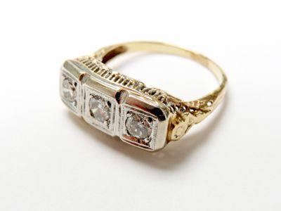 2015 ML Facets/3 Qtr/Vintage 3 Diamond Ring CFA150688 79649