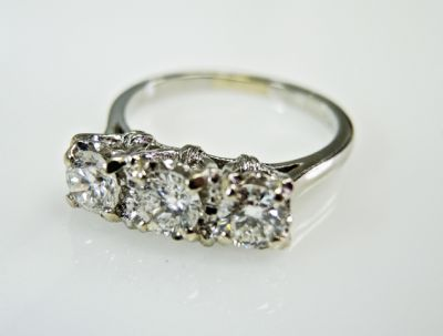 2015 ML Facets/3 Qtr/Vintage 3 Diamond Ring CFA150831 79869