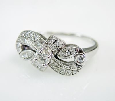 2015 ML Facets/3 Qtr/Vintage Diamond Bow Infinity Ring CFA1507318 79743