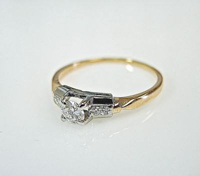 2015 ML Facets/3 Qtr/Vintage Diamond Engagement Ring CFA141045 78732