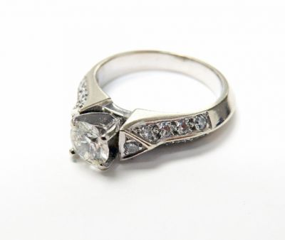 2015 ML Facets/3 Qtr/Vintage Diamond Engagement Ring CFA150691 79652