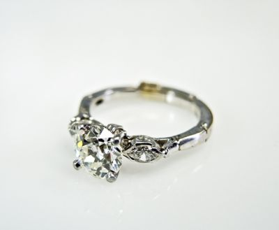 2015 ML Facets/3 Qtr/Vintage Diamond Engagement Ring CFA150849 79901