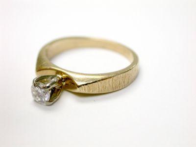 2015 ML Facets/3 Qtr/Vintage Diamond Solitaire Engagement Ring CFA140426 75482