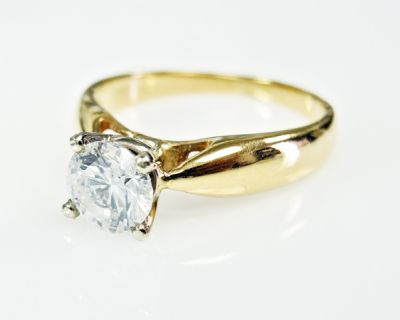2015 ML Facets/3 Qtr/Vintage Diamond Solitaire Engagement Ring CFA1507331 79754