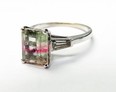2015 ML Facets/3 Qtr/Vintage Tourmaline and Diamond RIng CFA150752 79732
