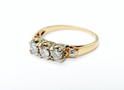 2015 ML Facets/3 Qtr/Vintage Trinity Diamond Ring CFA1506113 79565
