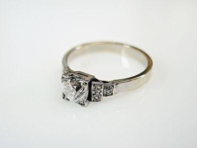 2015 ML Facets/4 Qtr/Art Deco Diamond Engagement Ring CFA1409131 78694