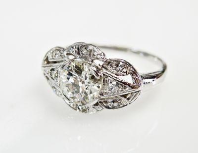 2015 ML Facets/4 Qtr/Art Deco Diamond Ring CFA1508302 80074
