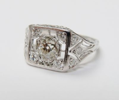 2015 ML Facets/4 Qtr/Art Deco Diamond Ring CFA1509128 80147