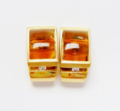 2015 ML Facets/4 Qtr/Art Deco Inspired Citrine and Diamond Earrings CFA1505229 79503