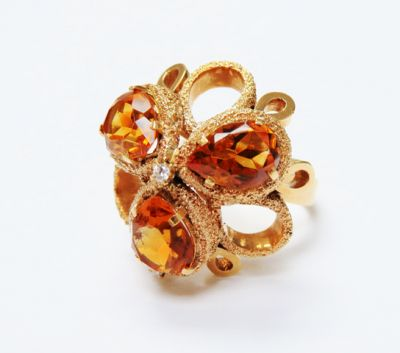 2015 ML Facets/4 Qtr/Modern Citrine and Diamond Ring CFA1506139 79612