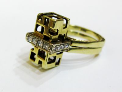 2015 ML Facets/4 Qtr/Modern Diamond Ring Set CFA1310219 73583