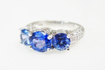 2015 ML Facets/4 Qtr/Modern Tanzanite and Diamond Ring CFA150931 80095