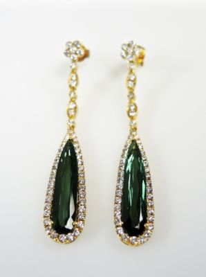 2015 ML Facets/4 Qtr/Modern Tourmaline and Diamond Earrings CFA150944 80108