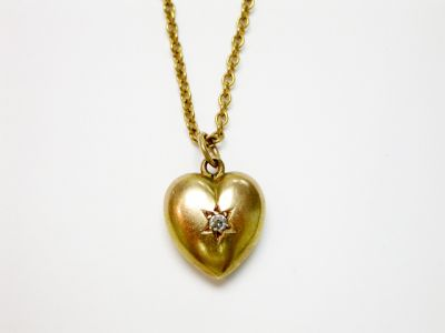 2015 ML Facets/4 Qtr/Victorian Gold and Diamond Heart Pendant CFA140262 74820