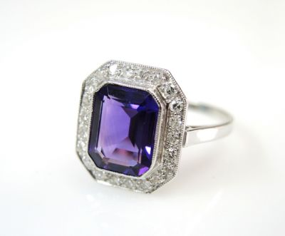 2015 ML Facets/4 Qtr/Vintage Amethyst and Diamond Ring CFA1508330 80064