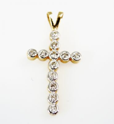 Vintage Diamond Cross Pendant