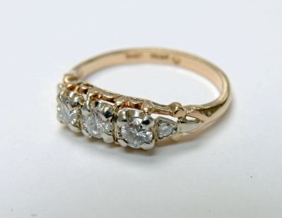 2015 ML Facets/4 Qtr/Vintage Diamond Engagement Ring CFA1508167 79960