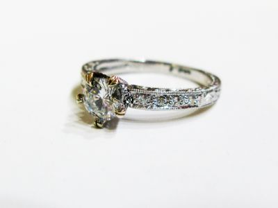 2015 ML Facets/4 Qtr/Vintage Diamond Engagement Ring CFA151097 80257