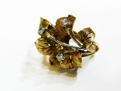 2015 ML Facets/4 Qtr/Vintage Diamond Floral Ring CFA1201218 66990