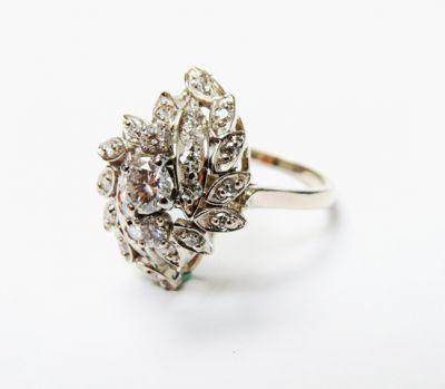 2015 ML Facets/4 Qtr/Vintage Diamond Floral Ring CFA1509113 80135