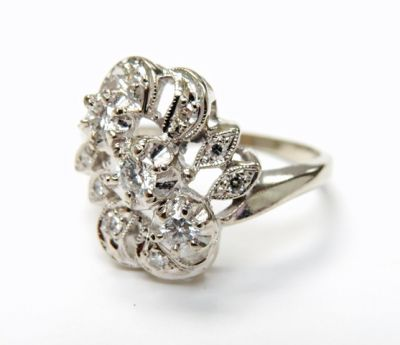 2015 ML Facets/4 Qtr/Vintage Diamond Ring CFA1508162 79956