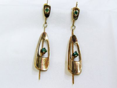 2015 ML Facets/4 Qtr/Vintage Emerald Earrings CFA140196 74524