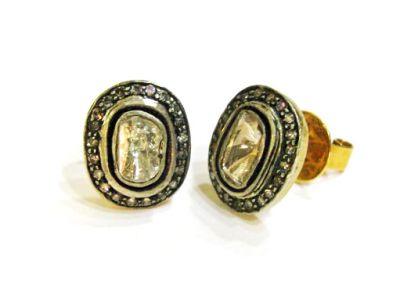 Vintage Inspired Diamond Earrings