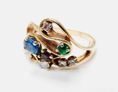 2015 ML Facets/4 Qtr/Vintage Multi Gemstone Ring CFA1509123 80143