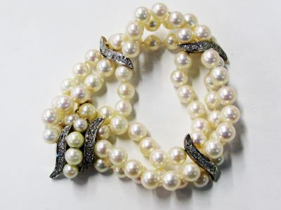 2015 ML Facets/4 Qtr/Vintage Pearl and Diamond Bracelet CFA1205409 67871