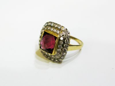 2015 ML Facets/4 Qtr/Vintage Pink Tourmaline and Diamond-Ring CFA120751C 68337