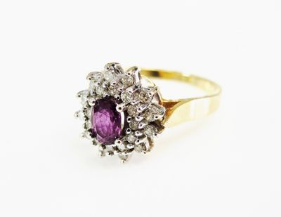 2015 ML Facets/4 Qtr/Vintage Ruby and Diamond Ring CFA1503133 80076