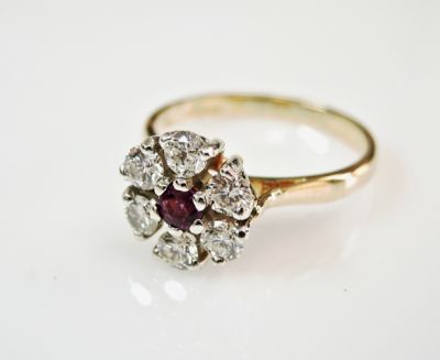 2015 ML Facets/4 Qtr/Vintage Ruby and Diamond Ring CFA1508331 80063