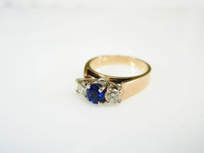 2015 ML Facets/4 Qtr/Vintage Sapphire and Diamond Engagement Ring CFA150970 80127