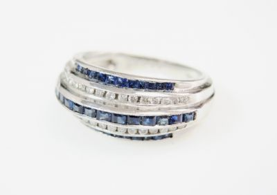 2015 ML Facets/4 Qtr/Vintage Sapphire and Diamond Ring CFA1508329 80065