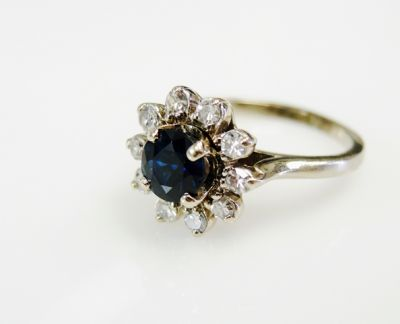 2015 ML Facets/4 Qtr/Vintage Sapphire and Diamond Ring CFA150979 80166