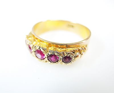 Vintage Synthetic Ruby Ring