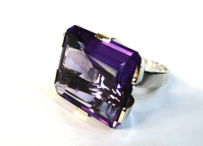 2015 ML Facets/Amethyst Solitaire Ring CFA1212354 70038