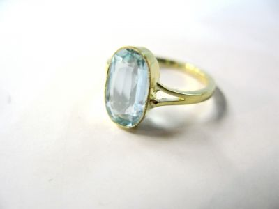 Aquamarine Solitaire Ring
