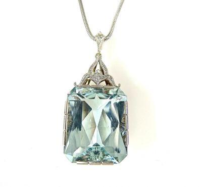 2015 ML Facets/Aquamarine and Diamond Pendant CFA1402157 74878